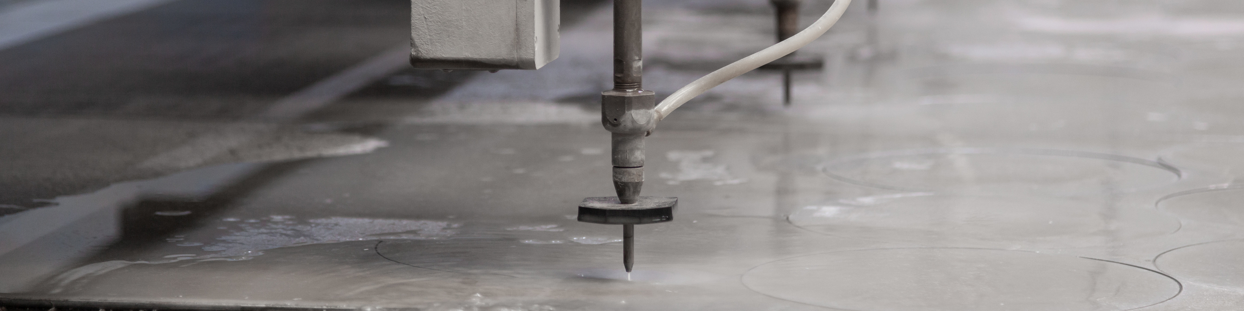 Industrial water jet cutting