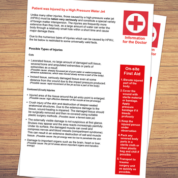 First aid information for doctors